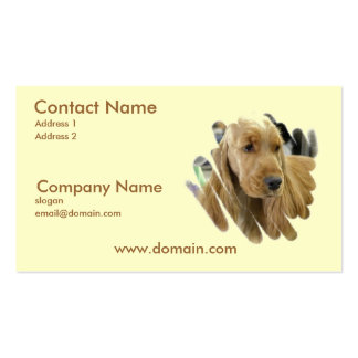 Cocker Spaniel Puppy Dog Business Card