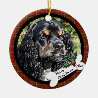 Cocker Spaniel Round Christmas Ornament