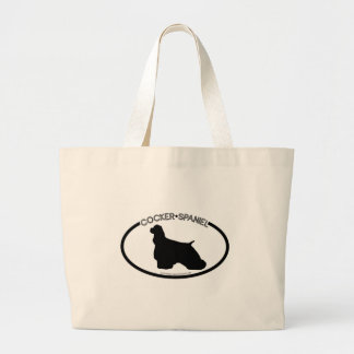 Cocker Spaniel Silhouette Black Bag