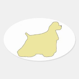 Cocker Spaniel silhouette Oval Stickers