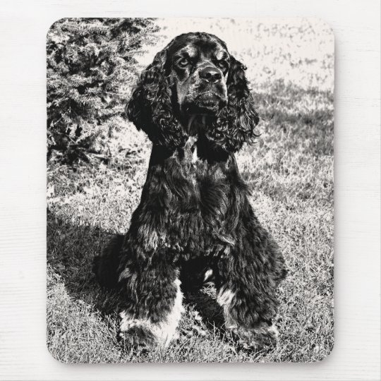 Cocker Spaniel Sketch Mouse Pad