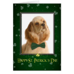 Cocker Spaniel St. Patrick's Day Card