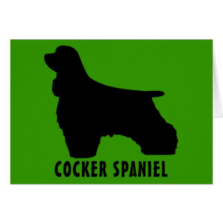 Cocker spaniel tarjeta de felicitación