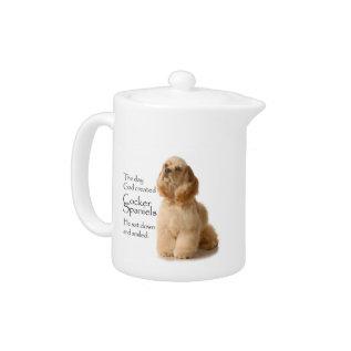 Cocker Spaniel Teapot at Zazzle