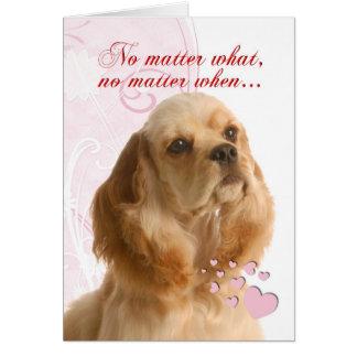 Cocker Spaniel Valentine Greeting Card