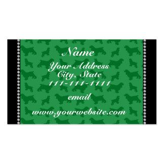 Cocker spaniel verde conocido personalizado tarjetas de visita