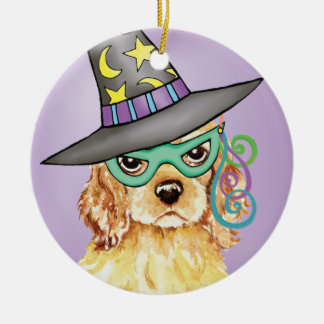 Cocker Spaniel Witch Christmas Ornament