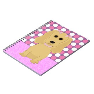 Cocker Spaniel with Pink Bows Notebook notebook