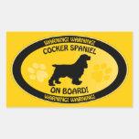 Cocker Spaniel Xing Sticker