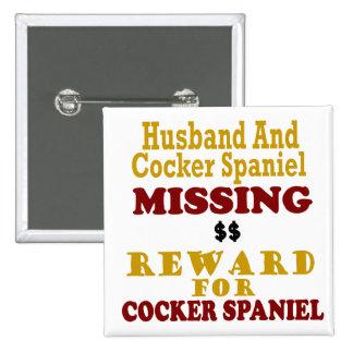 Cocker spaniel y recompensa que falta del marido p pin