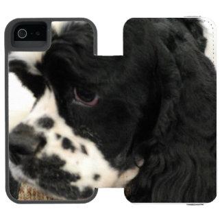 Cocker spaniel funda cartera para iPhone 5 watson