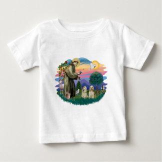 Cocker Spaniels (two buff) Baby T-Shirt