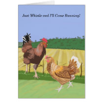 Cockerel and Chicken Valentine's Card