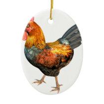 Cockerel Rooster Ceramic Ornament