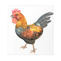 Cockerel Rooster Notepad