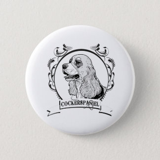 Cockerspaniel T-shirt Button