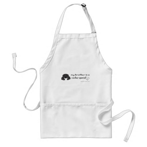 CockerSpanielBlackBrother Adult Apron