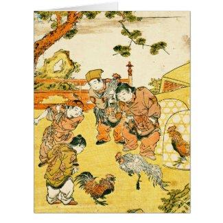 Cockfight 1772 card