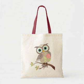 Cocking Head New Fancy Owl Tote Bag