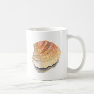 Cockle seashell, orange and yellow from the Beach Coffee Mug