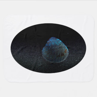 cockle shell back dark seashell beach image receiving blanket