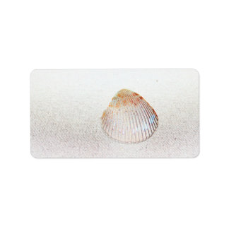 cockle shell back light seashell personalized address label