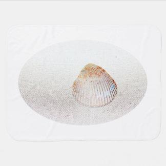 cockle shell back light seashell receiving blanket