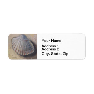 Cockle Shell Beach Seashell Return Address Label