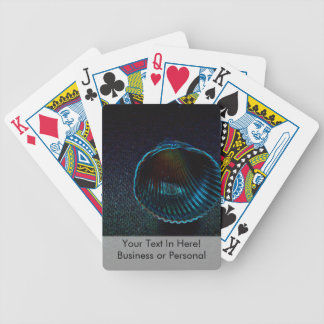 cockle shell dark neon beach themed design bicycle playing cards