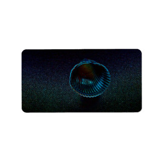 cockle shell dark neon beach themed design labels