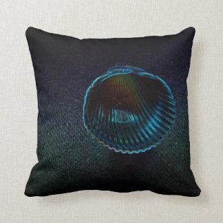 cockle shell dark neon beach themed design pillows
