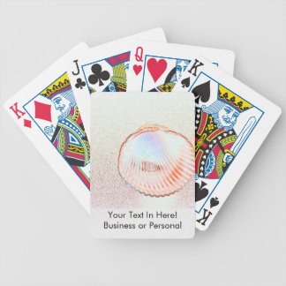 cockle shell invert outline beach design bicycle playing cards