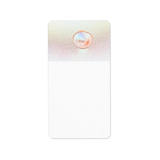 cockle shell invert outline beach design personalized address label