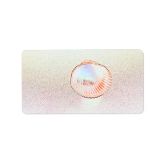 cockle shell invert outline beach design labels