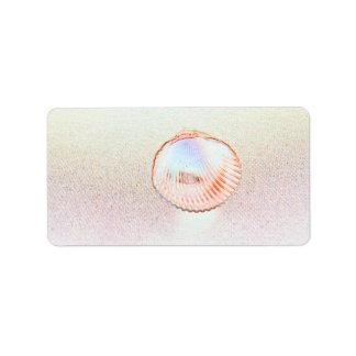 cockle shell invert outline seashell design custom address labels