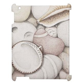 Cockle & Spiral Shells & Pebbles iPad Case