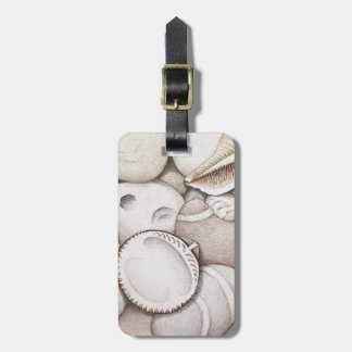 Cockle & Spiral Shells & Pebbles Luggage Tag