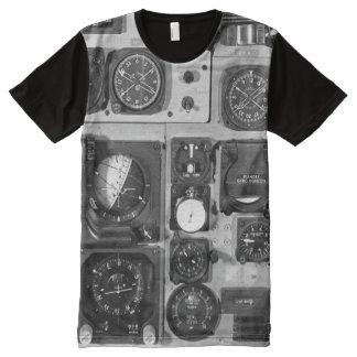 Cockpit Controls All-Over Print T-shirt