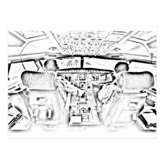 Cockpit Postcard