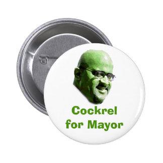 Cockrel para el alcalde pin