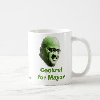 Cockrel para el alcalde taza