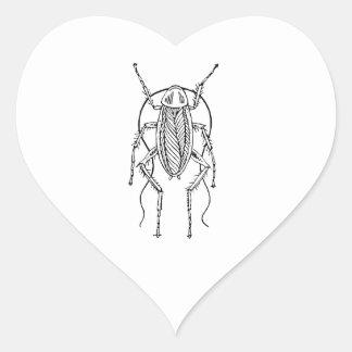 Cockroach Heart Sticker