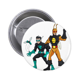 Cockroach Man and Fly Boy Button