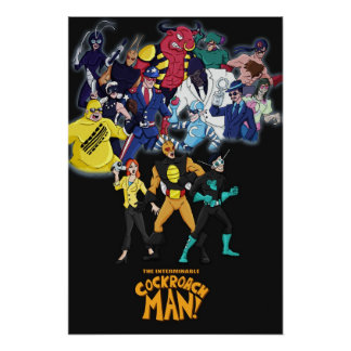 Cockroach Man Villains Poster