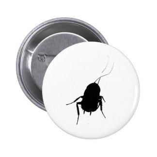 Cockroach pins buttons