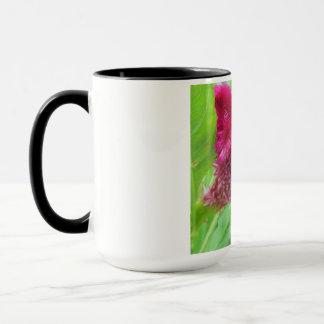 Cockscomb Celosia Red Flower Mug