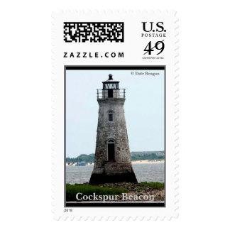 Cockspur Beacon - Fort Pulaski National Monument Postage Stamp
