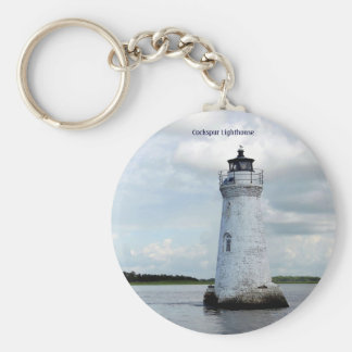 Cockspur Lighthouse Basic Round Button Keychain