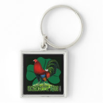 Cocksure I'm Irish Too! Keychain