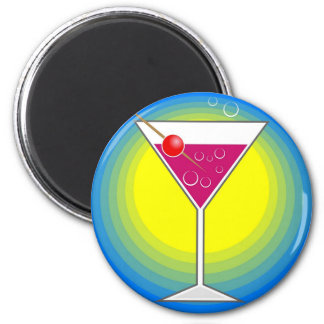 Cocktail 2 Inch Round Magnet